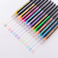 16 Gel Pens set Color gel pens Glitter Metallic pens Good gift For Coloring Kids Sketching Painting Drawing Gel Pens