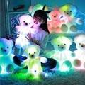 50cm Colorful Glowing Soft Stuffed Plush Toy Bear Pillow Flashing LED Light Luminous Bear Doll Toys Baby Birthday Gift for Kids