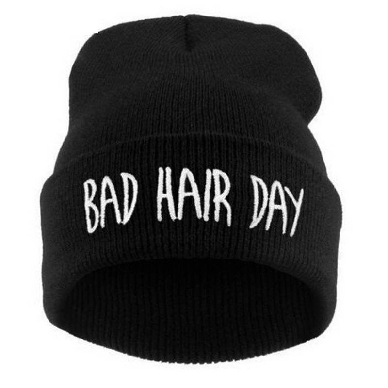 Hat PC  Winter Bad Hair Day Beanie Cap Men Hat Beanie Knitted Hiphop Winter Hats For Women Fashion Warm Caps Mask