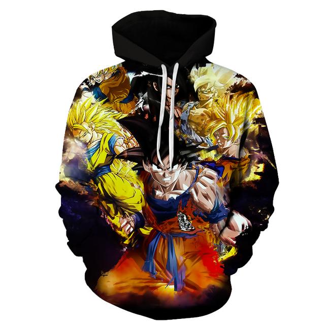 3D Hoodie Dragon Ball Z Sweatshirts Jackets