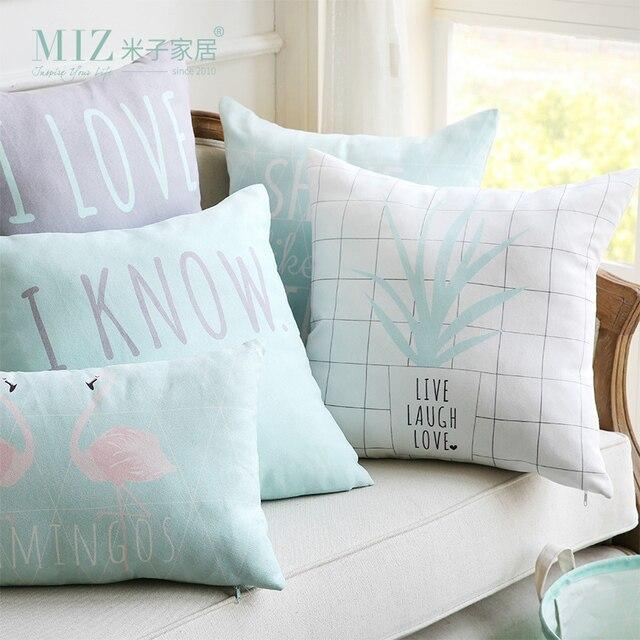 Miz Mint Warna Bantal Bantal Lembut Rumah Tekstil Rumah 1 Piece