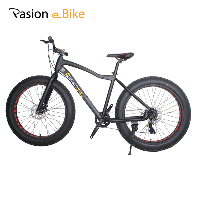 PASION E BIKE 7 speed Aluminium mountain bike black frame 26*4.0 fat ...