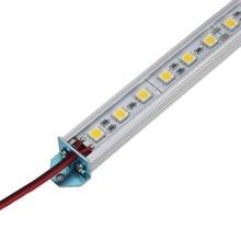 Жесткий светодиодный стержень 5050 SMD белый/теплый белый с U база 36 светодиодный s Жесткий светодиодный полосы