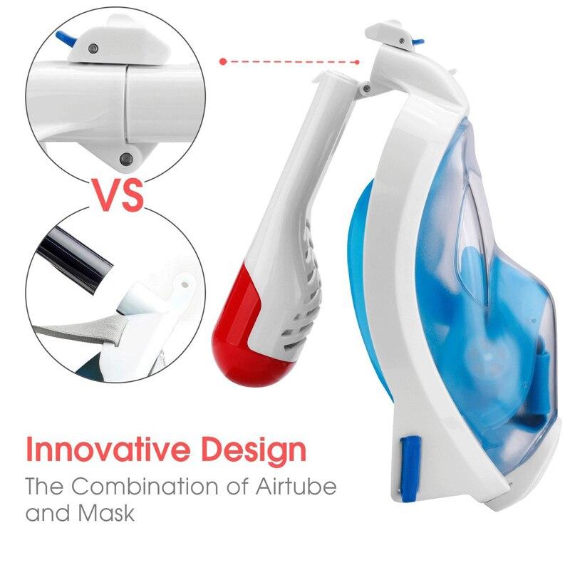Masque de plongée en Silicone de natation masque de plongée complet masque de plongée en Silicone 180 degrés masque de plongée complet