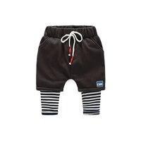 Fashion Boy Casual Fake Two Pieces Of Pants Unique Personality Design Korean Children Trousers Autumn Eelastic
