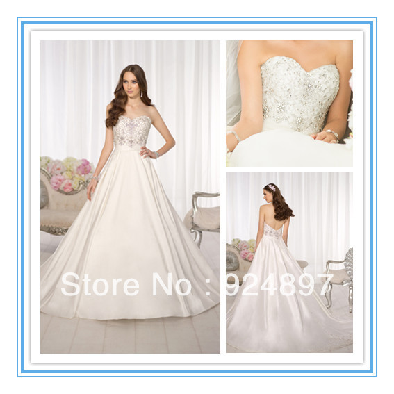Newest Arrival Satin Wedding Gowns Irish Wedding Dress