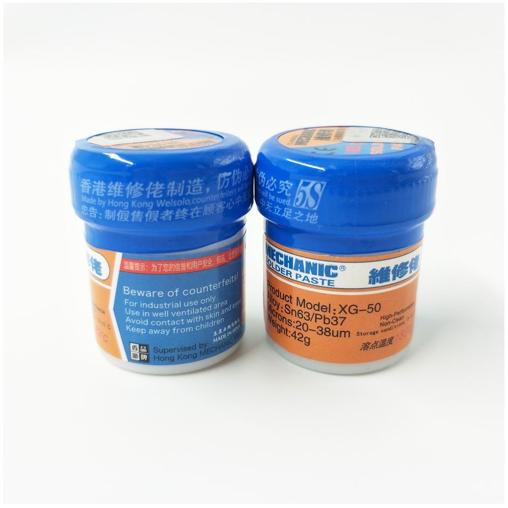2PCS/Lot Bga New Arrival MECHANIC Solder Flux Paste Soldering Tin Cream Sn63/Pb37 XG-50, New Packing From MECHANIC