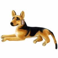 JESONN Realistic Stuffed Animals Toy Dog Plush German Shepherd for Children's Birthday Gifts