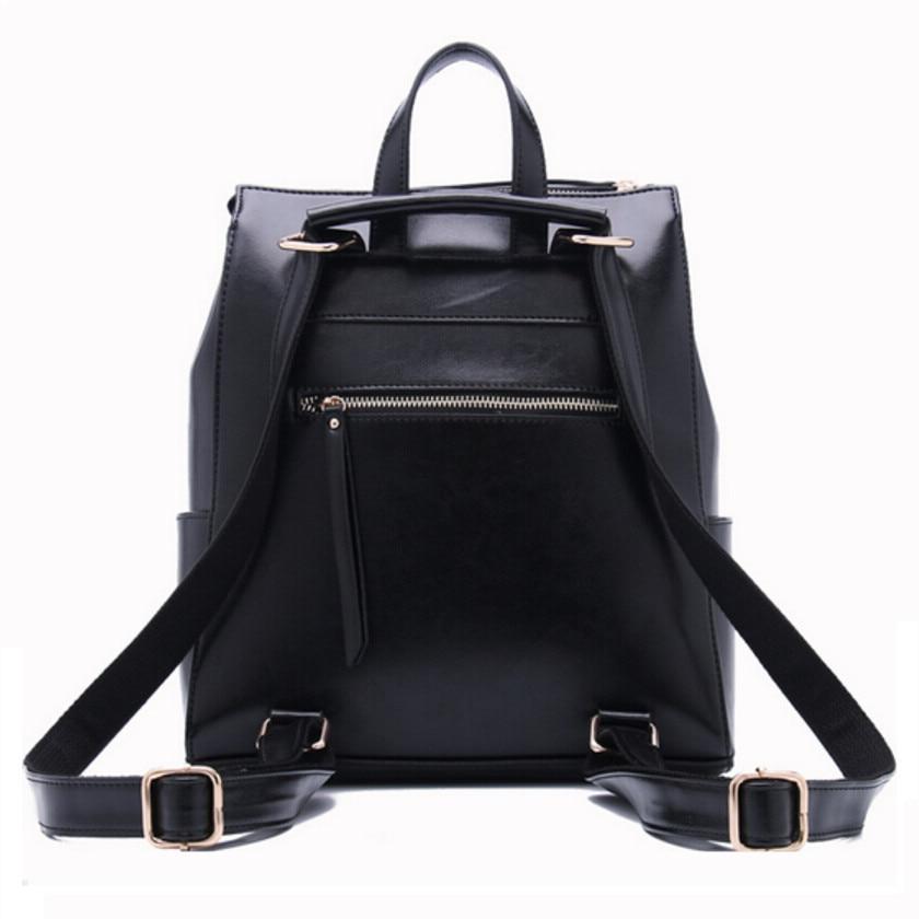 Aliexpress.com : Buy women black leather backpack female fashion ...
