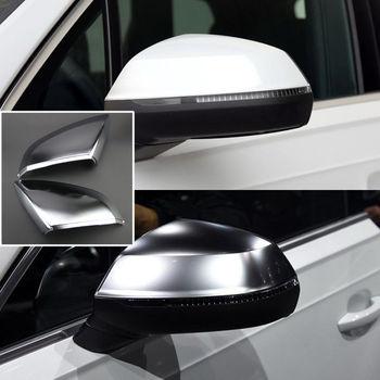 2 pz Argento ABS Chrome Specchi di Vista Laterale di Ricambio Tappi di Copertura Per Audi Q7 2011-2017