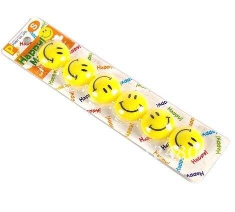 Free shipping!Medium  smiling face fridge magnet stickers display  6pcs/set