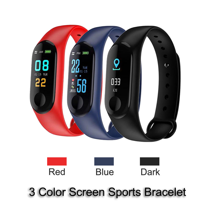 Smart Electronics Watch M3 Plus Color Screen Wristband Heart Rate Activity Fitness Tracker Smart Electronic Smart Watches