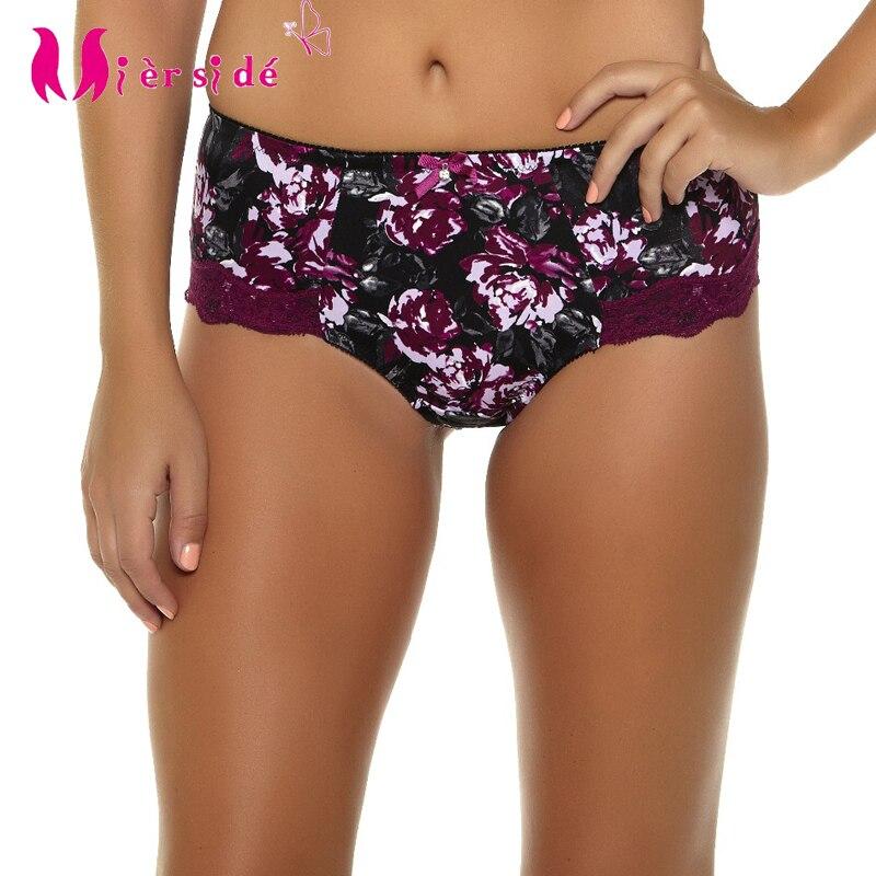 Mierside 954 P sous-vêtements femmes été culottes respirant lingerie Floral confortable impression slips XL/2XL/3XL/4XL/5XL/6XL/7XL