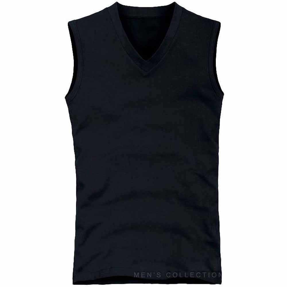 84fb7d4da509 ... Mens elastic cotton Slim Fit Sleeveless T-Shirts V-Neck Summer Fashion  Breathable Wicking