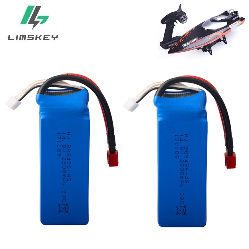 High Power 14.8V <font><b>2800mAh</b></font> 30c <font><b>4S</b></font> <font><b>Lipo</b></font> Battery for FT010 FT011 T Plug/XT60 Plug Connector for RC Drones FPV Quadcopter RC Toy Boat image