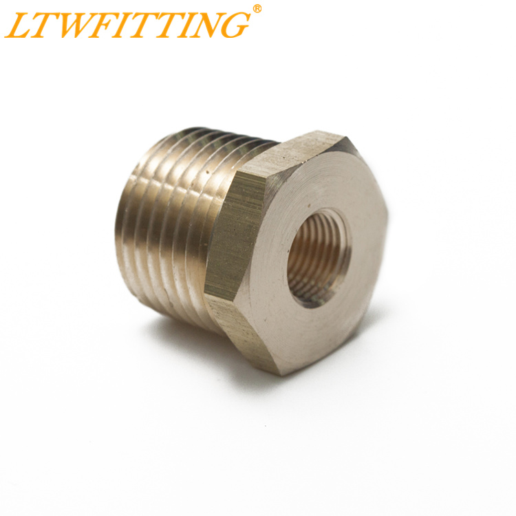 LTWFITTING Brass Pipe Hex Bushing Reducer Fittings 1/2 Male x 1/8 Female NPT brass pipe hex bushing reducer fittings 1 2 male x 1 8 female npt