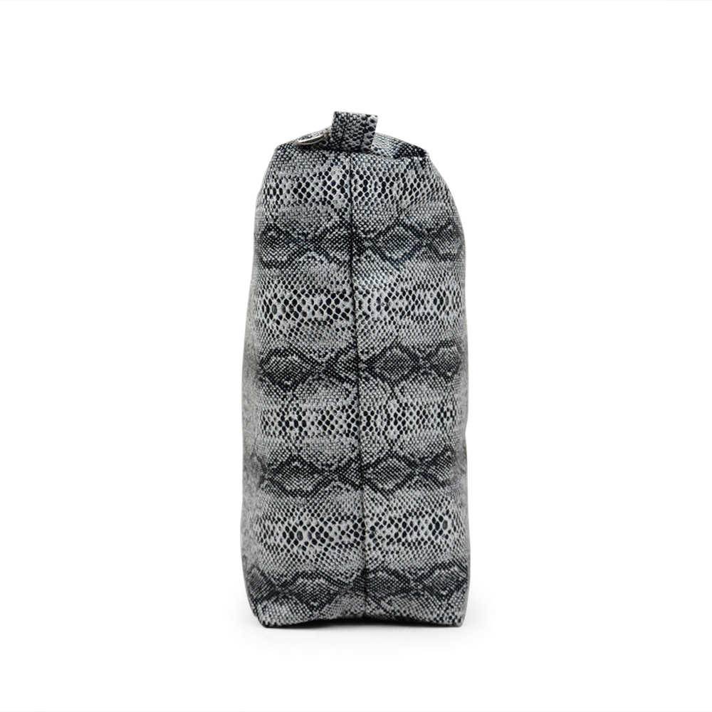 TANQU Snake Skin Grain PU Leather Inner Zipper Pocket Lining Waterproof Insert for Big Classic Mini Obag EVA O BAG Women Handbag