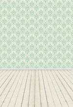 купить Laeacco Damask Pattern Wall Wooden Floor Portrait Photography Backgrounds Customized Photographic Backdrops For Photo Studio дешево