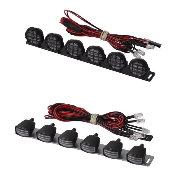 RCAidong 152MM High Quality Multi function LED Light Bar (6~7.2v) for AXIAL 1/10 YETI TAMIYA CC01 SCX10 D90