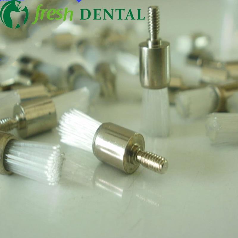 1000 pcs dental polimento prophy escova dental estilo parafuso plana profilaxia escova de nylon branco escova
