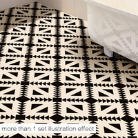 50x50cm floor decoration stickers black and white geometric patterns living room bedroom bathroom kitchen stickers murals