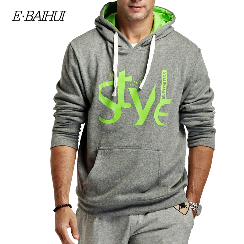 E-BAIHUI brand mens  Hoodies Moleton Masculino Cotton coats  Men hip hops Sweatshirts Men coatsTracksuit Swag WY001