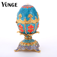 Noticing!! Home Decoration Vintage Russia Eggs Sculpture Birthday Gift Fabege Easter Egg Figurine Souvenir Magnet Craft
