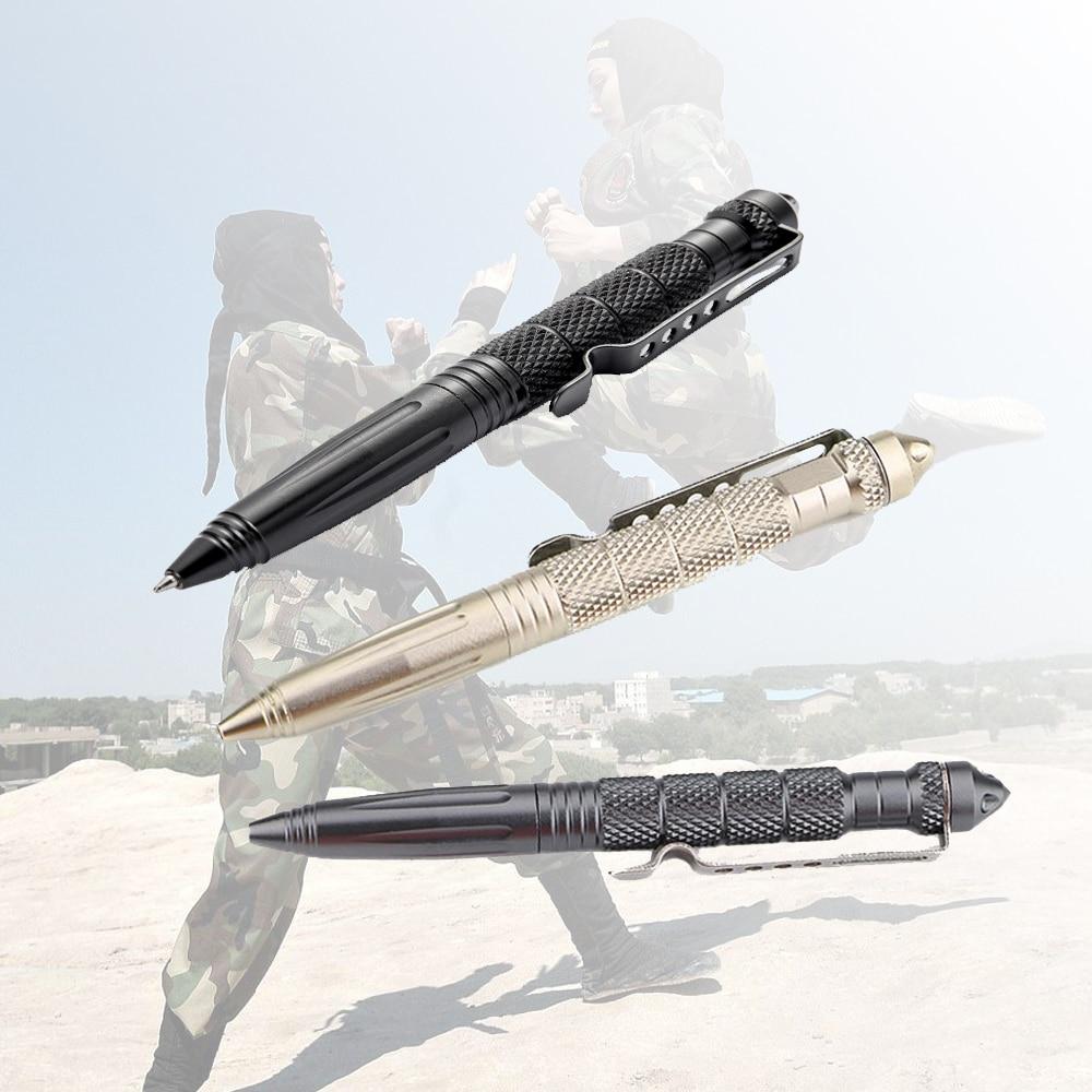 Defence Tactical Pen Pocket Aviation Aluminum Anti-skid Military Self Defense Military Pen Glass Breaker Anti-skid Survival Kit