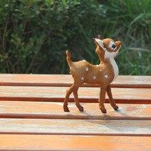 Pure handmade custom deer baby plastic animal toys for decoration