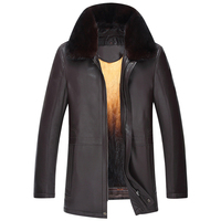 2017 Luxury Natural Sheepskin Zipper Fur Coat Fashion Casual Designer Brand Black and Brown Motorcycle Coat vT0253