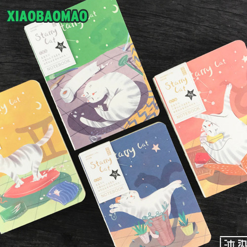 Cat Luminous Diary Notebook A5 Vintage Japanese Zakka Journal 160 Sheet Sketchbook Material Escolar school supplies XLG691 sosw fashion anime theme death note cosplay notebook new school large writing journal 20 5cm 14 5cm
