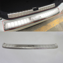 Car body kits  Stainless Steel rear bumper foot plate Pedal Car Sticker For HONDA CIVIC 2017 car body kits plastic rear bumper foot plate car sticker for toyota vios 2017