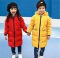 IDGIRL Niños Abrigos de Invierno 2016 Espesar Ropa Adolescentes Boys & Girls Largo Con Capucha Chaquetas Niños Prendas de abrigo Ropa TH076