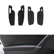 LHD For VW Golf MK7 2014 2015 2016 2017 2018 Car Door Handle Panel Armrest Door Slot Microfiber Leather Cover 4 doors only