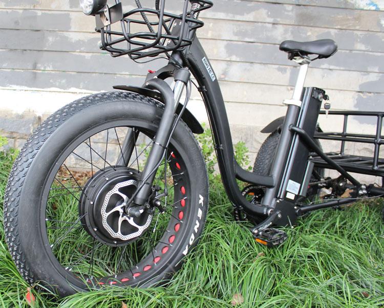 HTB1X vVXjDuK1RjSszdq6xGLpXah - 48V 1000W electric three-wheeled snowmobile Electric three-wheeled bicycle fat ebike 20-24inch wheel electric