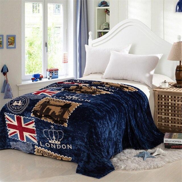 לונדון סגנון דגל פליז על מיטת בד cobertor mantas אמבטיה קטיפה מגבת אוויר מצב שינה כיסוי מצעים