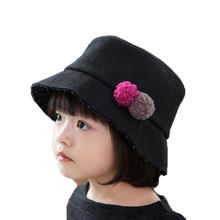 Girls Bucket Hat Unisex Two Small Flower Design Solid Fisherman Cap Outdoor  M6762 Spring Casal Hat Kids Autumn Child Cap Hat 11b4227ba45d
