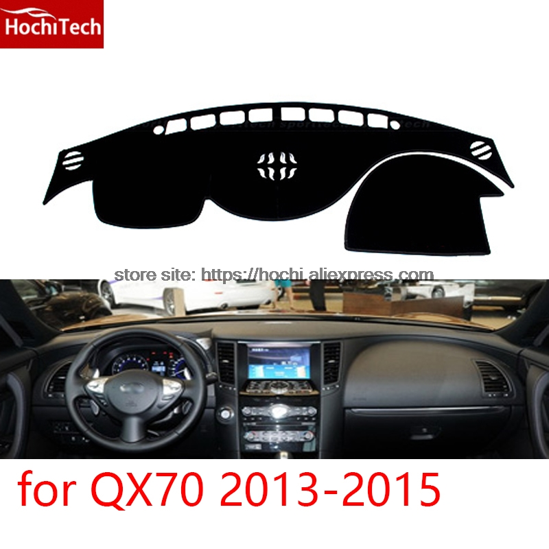 dashboard mat Protective pad Shade Cushion Photophobism Pad car styling accessories for Infiniti QX70 2013 2014 2015 for toyota prius 2012 2013 right hand drive dashboard mat protective pad black car styling interior refit sticker mat products