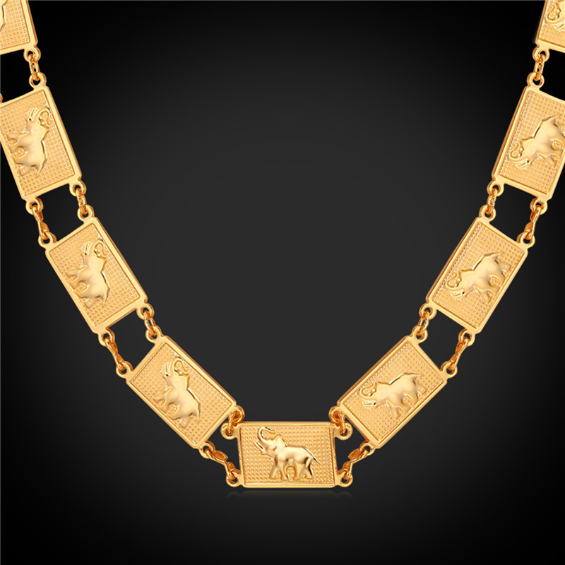 73338440b الفيل العلامة قلادة الحيوان المجوهرات بالجملة الذهب/الفضة سلسلة قلادة للنساء  الرجال n339