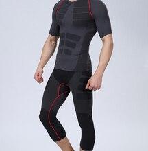 9390b840f7 2pcs Men Slimming Fit Body Shaper Compression Chest Tops Butt Lift Control  Panties Slimming Thigh Calf