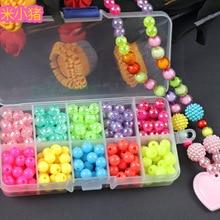 200 шт бусины игрушки для детей DIY ожерелья ручной работы браслеты для девочек Дети Малыш бисерные Пазлы обучающие игрушки