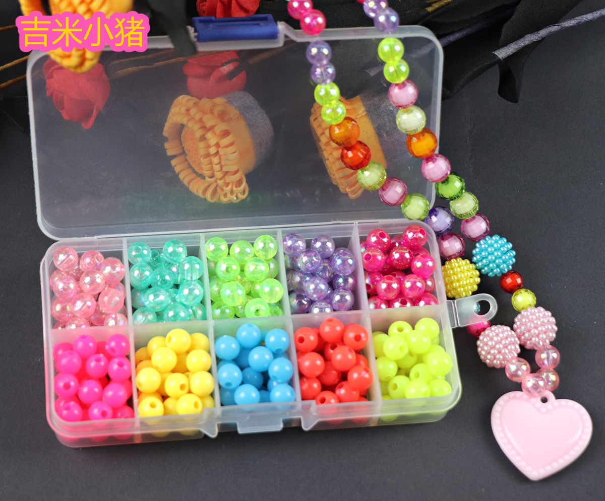 200pcs Beads Toys For Children DIY Hand-made Necklaces Bracelets Girl Kids Toddler Beaded Puzzles Educational Toy Free Shipping