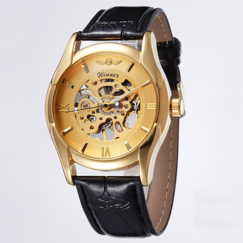 Hot Sale Senior Gem Glass Manual Mechanical Men s Watches font b WINNER b font LXH