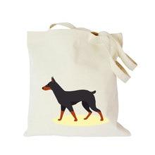 цена на Original custom made shopping bags Pet dog cartoon canvas bag customized eco tote bag with logo  Dachshund Shepherd Dog Poodle