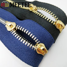 2Meter Meetee 3# Metal Zipper Without Slider Double Pull for Clothing Wallet Handbag Backpack DIY Handmade Sew Accessories ZA202(China)