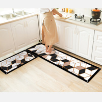 Kitchen water absorbing non slip dirt resistant floor mat Nordic strip mat home door mat door mat bedroom bedside carpet