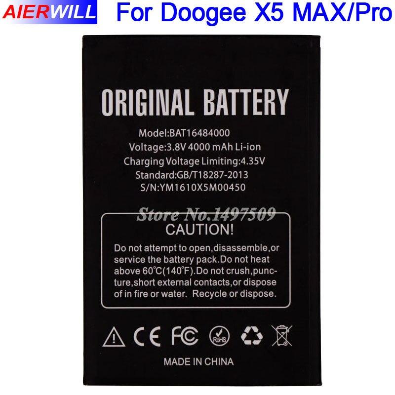 For DOOGEE X5 MAX Battery for DOOGEE X5 MAX Pro Bateria Accumulator AKKU 4000mAh