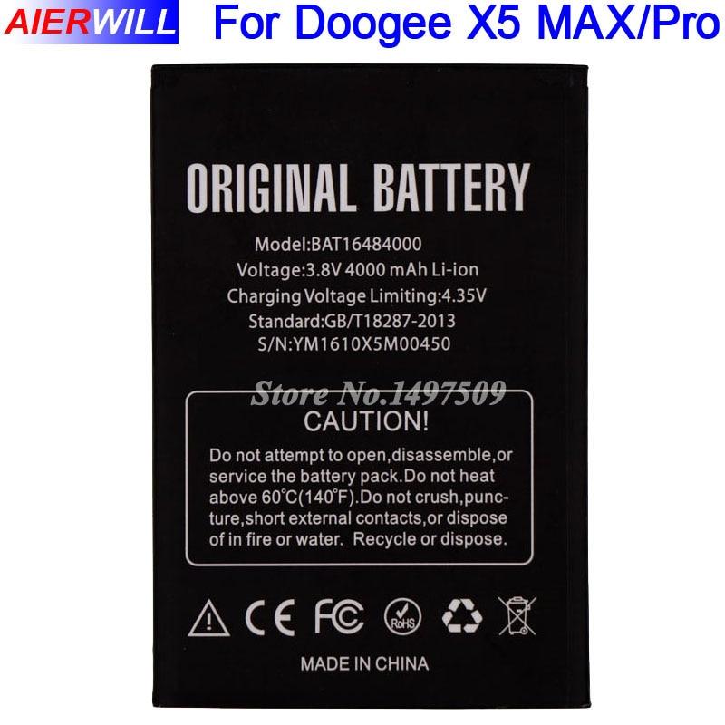 Pour DOOGEE X5 MAX Batterie pour DOOGEE X5 MAX Pro Bateria Accumulateur AKKU 4000 mAh