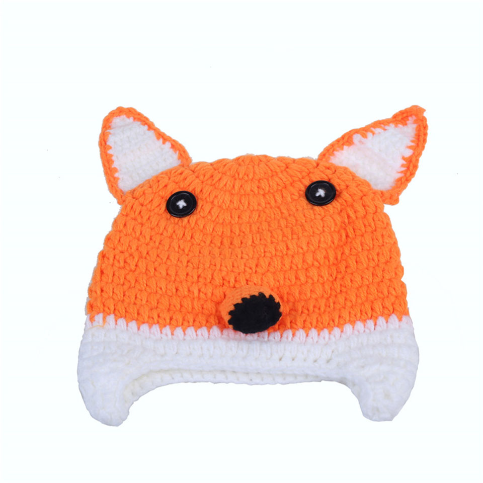 Lovely Fox Design Newborn Baby Photography Props Knitted Baby Animal ... d43c882aea19
