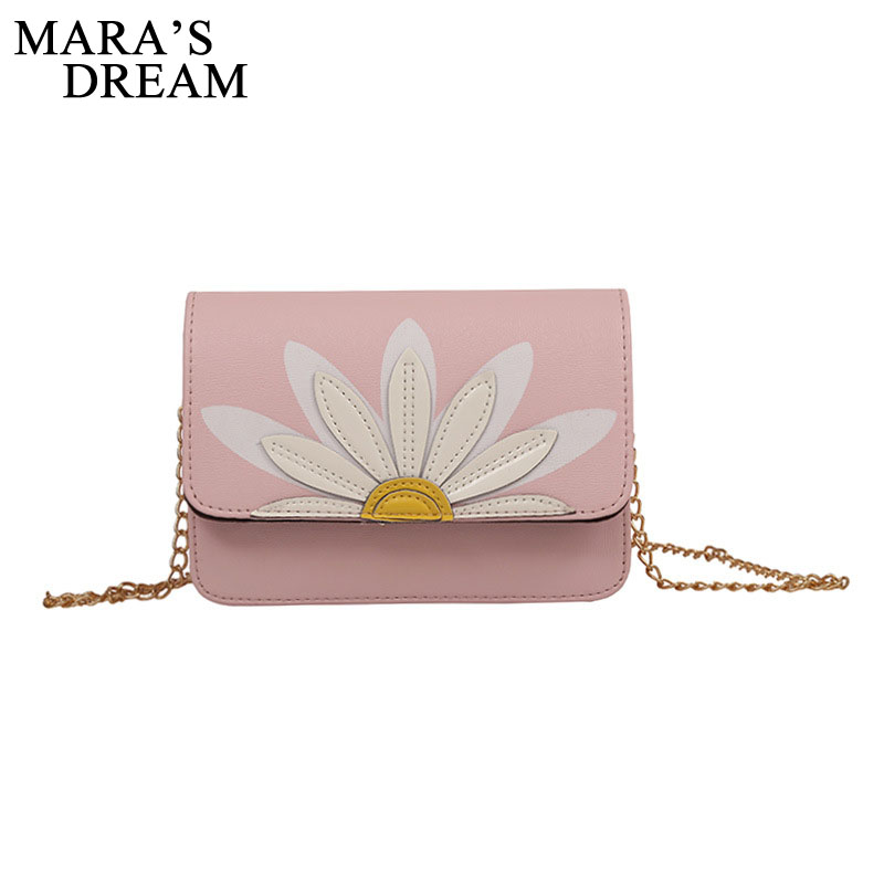 Mara's Dream 2018 Small Floral Women Crossbody Bag Embroidery Women Shoulder Bags Soft PU Leather Messenger Bag Girl Flap Bag 2017 summer metal ring women s messenger bags solid scrub leather women shoulder bag small flap bag casual girl crossbody bags